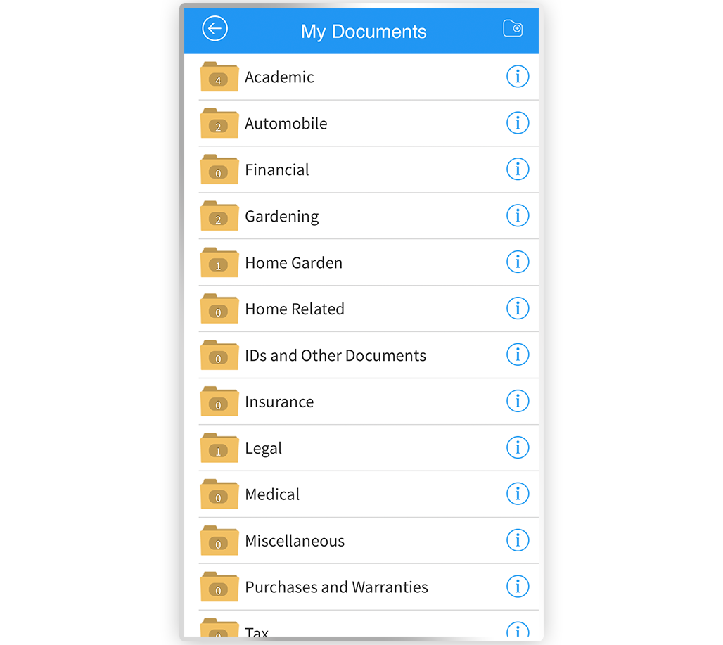 Organize all of your important documents in one secure place