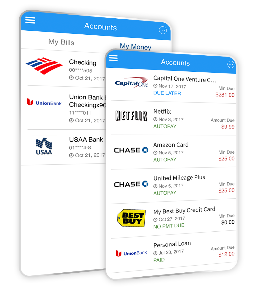 No need to worry about your bills, overdraft or late fees again